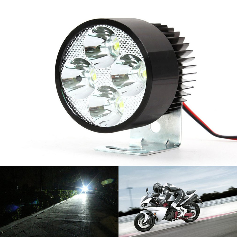 Motorcycle Super Bright Long Lasting 12V-85V 20W LED Spot Light Head Lamp Mount Motorcycle Accessories Headlight Bulb Auto Parts