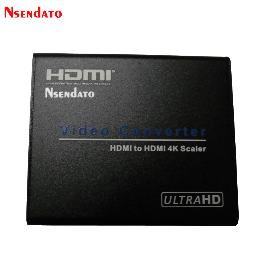 Nsendato HDMI TO HDMI 4K*2K Scaler Video Converter Box 60Hz 1080P Amplifier HDMI V1.4 Video Adapter With Audio Zoom for HDTV PC 10pcs 1080p hdmi to hdmi audio video scaler adapter hdmi converter with audio output support 4k 2k