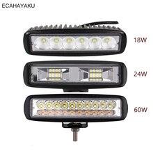 1Pcs ECAHAYAKU Car styling 6 inch LED Bar LED Work Light Bar for Driving Offroad Boat Car Tractor Truck 4x4 SUV ATV 12V 24V цены онлайн