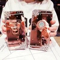 Custodia per telefono a specchio con strass Mi 10T Pro 10 plus per Xiaomi Mi 9pro F1 8 lite Note 8T 5s plus Max 2 k30 telefono cavalletto Coque
