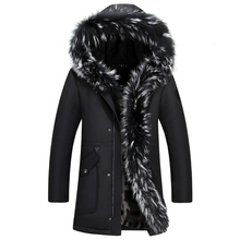 High Quality winter jacket men new long parka real fur coat big raccoon fur collar hooded parkas Lovers thick outerwear size 5xl