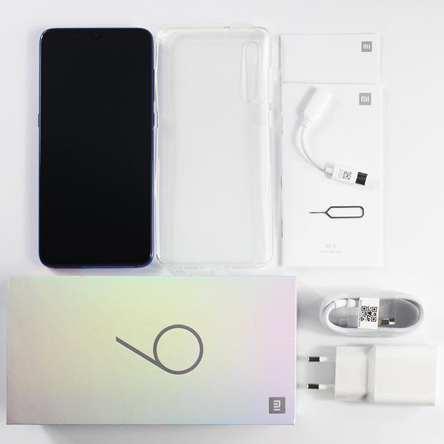 Wersja globalna Xiao mi mi 9 mi 9 6GB pamięci RAM i 64GB ROM telefon komórkowy rdzeniowy Snapdragon 855 Octa 6.39 AMOLED na pełnym ekranie 48MP kamera tylna