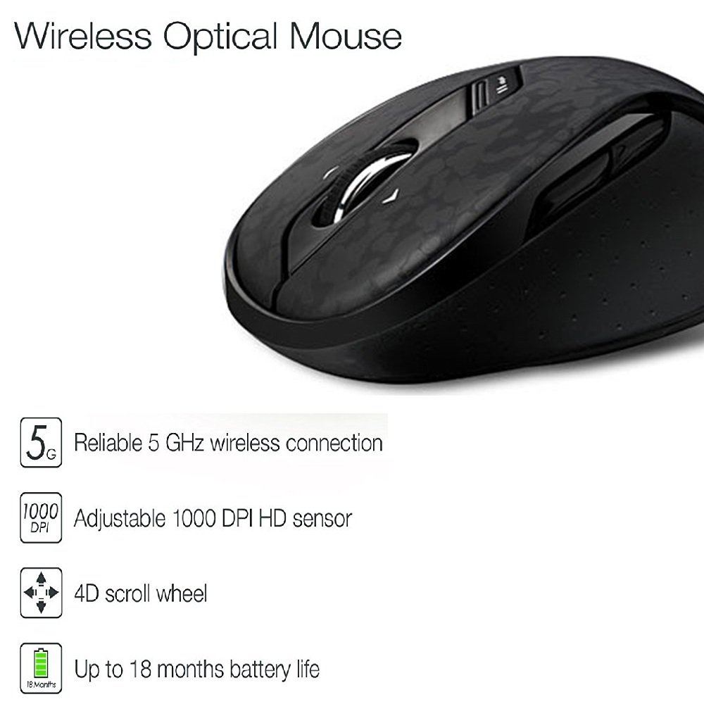 Original Rapoo High Quality Classic 5G Wireless Gaming Optical Mouse - Periféricos de la computadora - foto 4