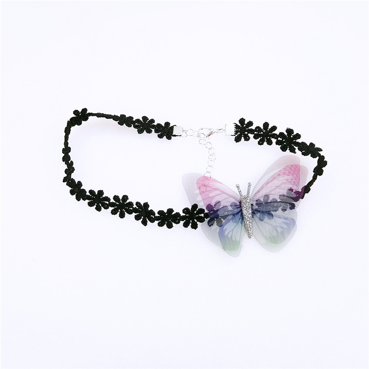 10 10PCS Colorful Butterfly For DIY Apparel Sewing & Fabric Lace Choker Necklace Women Clothing Sewing DIY Craft Supplies 30