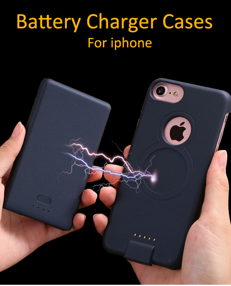 Hot Sale Backup 4000mah/5000mah External Battery Charger Case for iPhone 6/6s/7 plus charger case Backup Power Bank cover CaseHot Sale Backup 4000mah/5000mah External Battery Charger Case for iPhone 6/6s/7 plus charger case Backup Power Bank cover Case