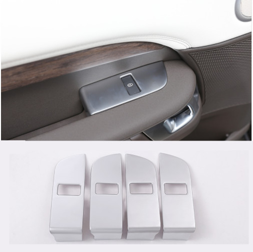 ABS Chrome Car Child Safety Door Lock Switch Panel Cover Trim For Land Rover Discovery 5 2017 Car Accessories 4pcs
