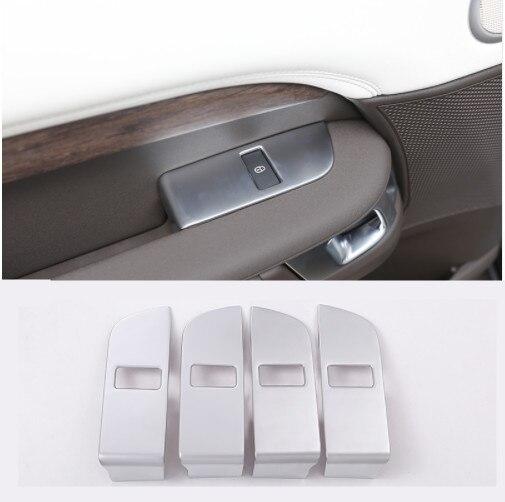 ABS Chrome voiture enfant sécurité porte serrure interrupteur panneau couverture garniture pour Land Rover découverte 5 2017 voiture accessoires 4 pièces