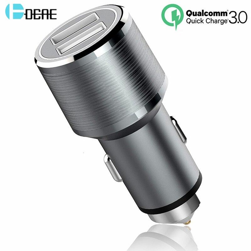 Carregador de carro DCAE Quick Charge 3.0 Suporte de 2 portas QC3.0 - Peças e acessórios para celular