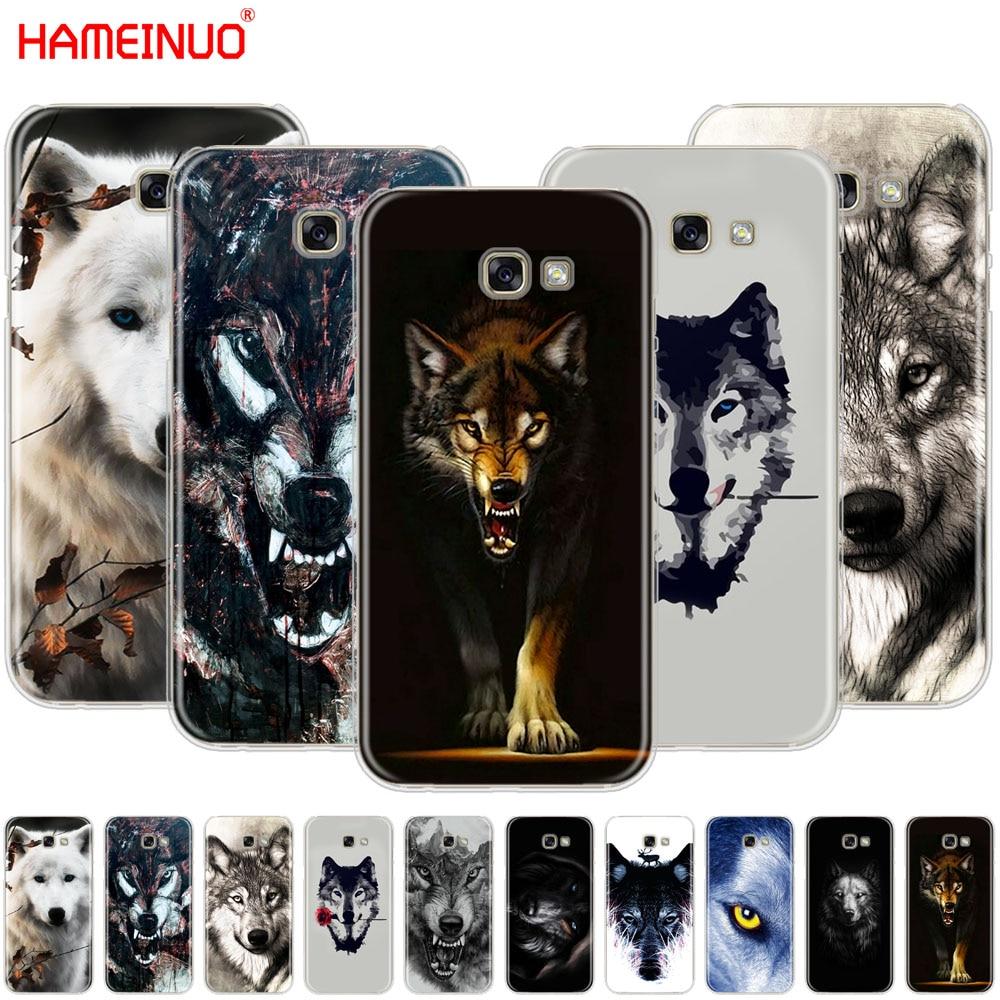 Dark Night Wolf Cell Phone Case Cover For Samsung Galaxy A3 A310 A5 A510 A7 A8 A9 2016 2017 2018