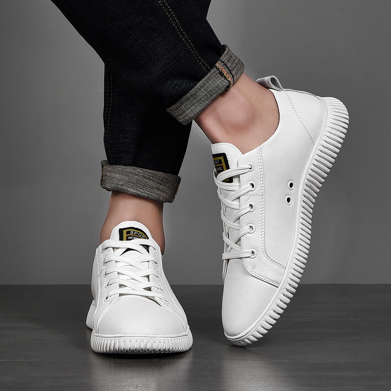 Mens Hombre Pequenos Homens Skate Macios Novos Respirável Zapatos Black white Não Brancos deslizamento De Formadores Sapatos Mocassins Sapatilhas Negros a8anPfx