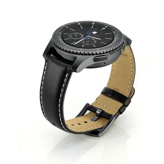 639b6e12d Para Galaxy Gear S3 clásico/frontera smartwatch Banda, 22mm Cuero auténtico  reemplazo de correa