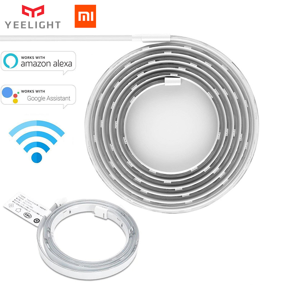 Original Xiaomi Yeelight RGB Banda de luz inteligente Smart Home Phone App tira de luz wifi Colorido cordero LED 2M 16 Million 60 Led