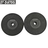 DT DIATOOL 2pcs Grits #30 Vacuum Brazed Diamond Flat Grinding Wheel M14 Thread Shaping Disc Dia 4/105mm 4.5/115mm 5/125mm