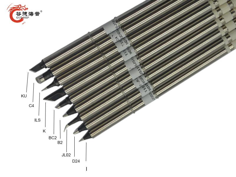 Gudhep High Grade Black T12 Soldering Iron Tips T12-K BC2 D24 C4 JL02 B2 KU I ILS For FX951 FX950 Soldering Rework Station