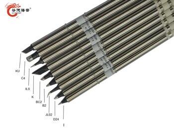 Gudhep High Grade Black T12 Soldering Iron Tips T12-K BC2 D24 C4 JL02 B2 KU I ILS for FX951 FX950 Soldering Rework Station gudhep t12 soldering iron tips t12 c4 welding tips replacement tips for fx950 fx951 soldering rework station