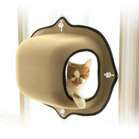 Pet Cat Window Bed Hanging Mats Cat Lounger Warm Bed Hammock For Rest Cat House Soft Comfortable Suction Cup Cat Ferret Cage Hot