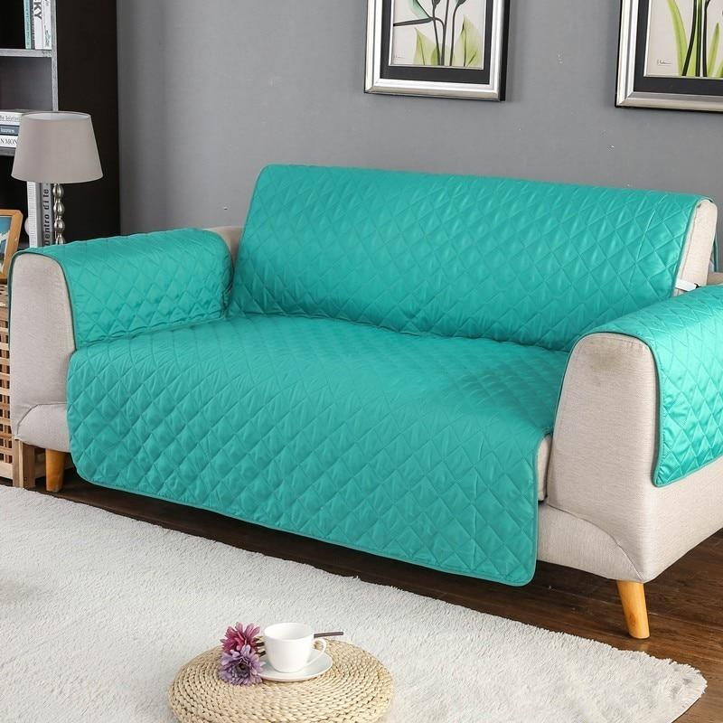 Sofá cubierta de sofá silla tirar perro niños estera muebles Protector Reversible lavable desmontable reposabrazos fundas 1/2/ 3 asiento