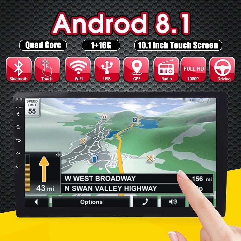 10.1 Android 8.1 1+16G Car Stereo 2DIN bluetooth WIFI DBA GPS Nav Quad Core Radio Video MP5 Player Car Multimedia Player10.1 Android 8.1 1+16G Car Stereo 2DIN bluetooth WIFI DBA GPS Nav Quad Core Radio Video MP5 Player Car Multimedia Player