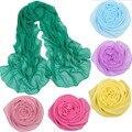 Scarf Hot Sale Adult Cotton 2017 New winter Scarf Women Multicolor Chiffon scarf Color Monochrome Scarves foulard femme hiver