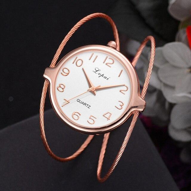 Lvpai Women's Casual Quartz Bracelet Watch Analog Wrist Watch luxury brand fashi