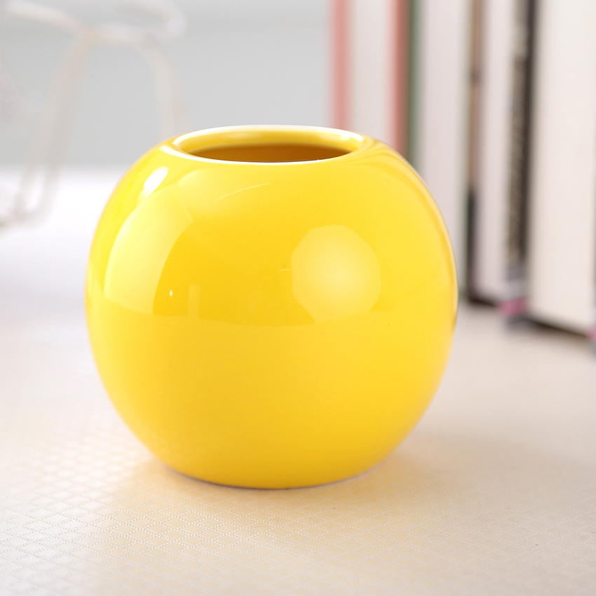 Ceramic Ball Accessories Flower Vase Tabletop Decoration