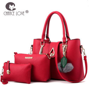a4015858e77e Chance Love Female composite bag 3 piece set green handbags