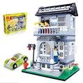 Kits de edificio modelo compatible con lego ciudad Wange villa 1046 bloques 3D aficiones modelo Educativo y juguetes de construcción para los niños