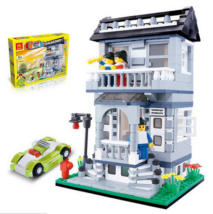 Lego Building Toys : Wange model building kits compatible with lego city villa