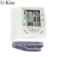 Health Care Portable Automatic Wrist Digital Blood Pressure Monitor Tonometer Meter For Measuring And Pulse Rate