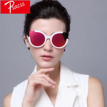 Psacss 2019 Cat eye Sunglasses Women Brand Designer Vintage Reflective Sun Glasses For Womens Mirror Retro gafas de sol mujer