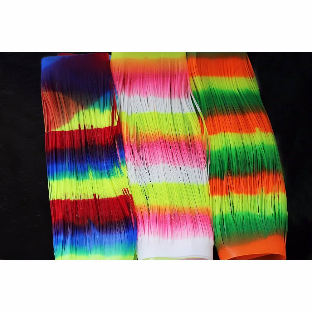 16 Bundles Silicone Skirts Legs Plain Color Pearl Flake DIY Spinner Bait Squid Rubber Thread Fly Tying Materials