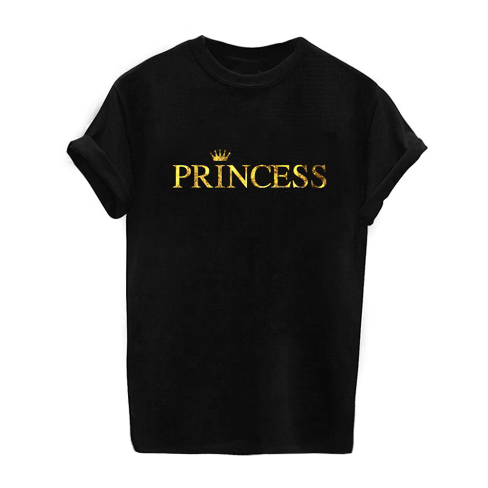 Harajuku White Female T-shirt 2019 Summer Novelty Tee Shirt Femme Princess Letters Print Women Tshirt Casual T-shirt for Women