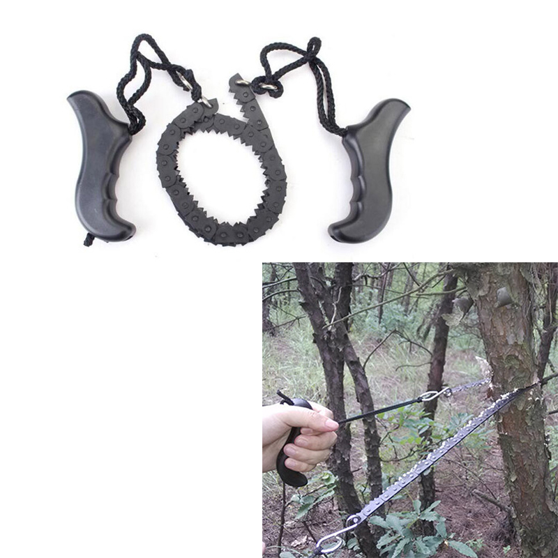 High Quality Camping Hiking Pocket Chain Saw ChainSaw 118cm Emergency Survival Hand Tool Gear Foldable Outdoor Handle Saws