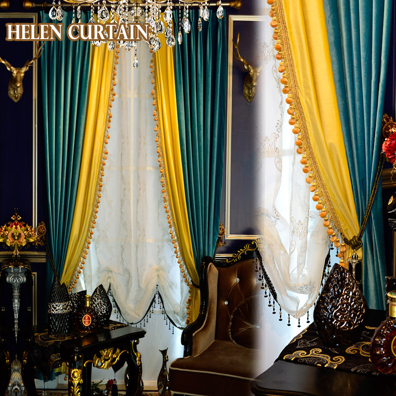 Huayin Velvet Linen Curtains Tulle Window Curtain For: Aliexpress.com : Buy Helen Curtain Luxury Italian Velvet