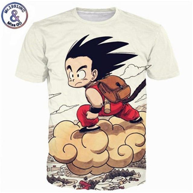 760766f4a8a Dragon Ball DBZ Bulma Super Saiyan Vegeta T-shirt 3D Men Women Anime Kid  Goku
