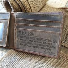 Carteira dos homens carteira cinzenta do couro da vaca, o presente perfeito dos homens, ao meu presente dos homens, presentes para o marido, presentes do filho pessoal gravado