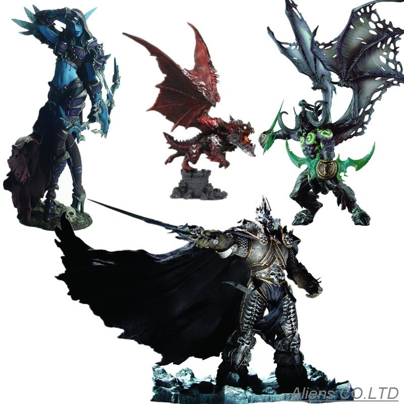 original package wow Arthas Menethil The Lich King illidan Stormrage Deathwing Sylvanas vashj Priestess action Figure collection