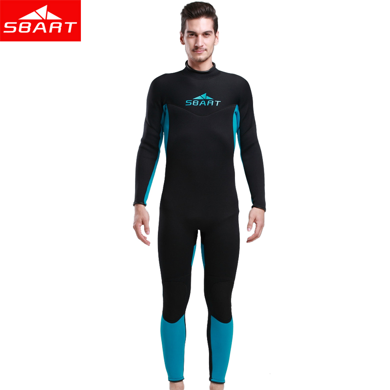 SBART 3MM Neoprene Diving Wetsuit Men Scuba Diving Equipment Triathlon Spearfishing Neoprene Snorkeling Wet Suit Surf Sportswear sbart upf50 806 xuancai