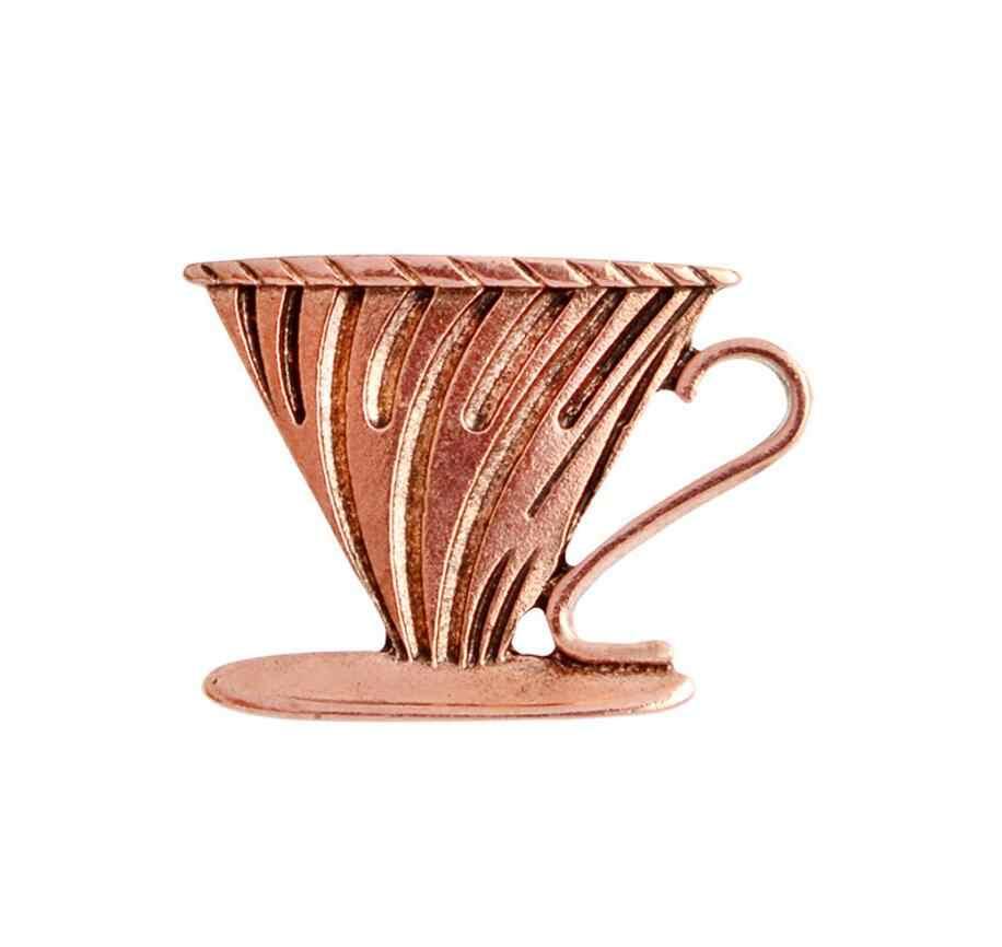 Smjel Vintage Cokelat Kehitaman Pot Piala Latte Art Filter Bros Denim Jaket Pin Kemeja Lencana Hadiah untuk Kopi Penggemar Tea Set broches