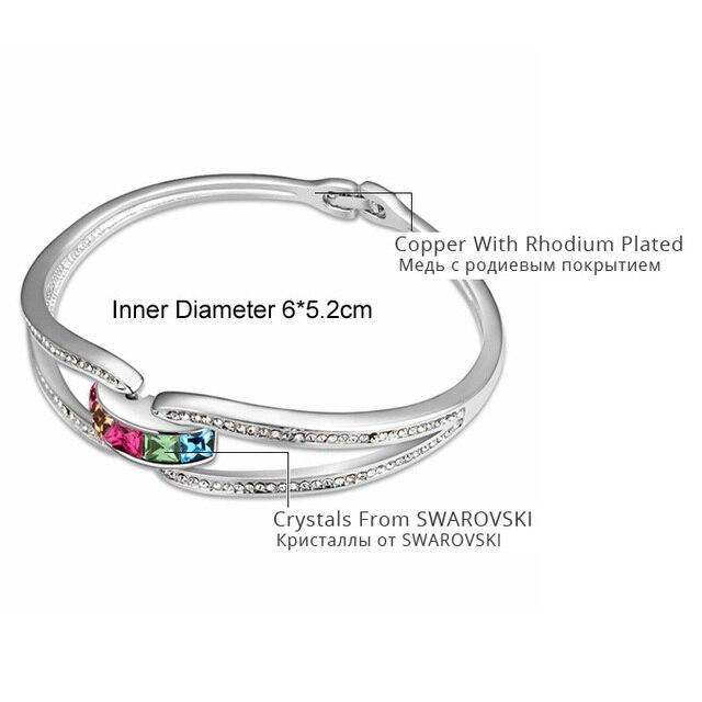 Marque de mode Bijoux bracelets en cristal pour femmes cristaux de Swarovski Bracelet Femme Pulseiras brassard Bijoux saint valentin cadeau