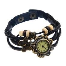 FUNIQUE Fashion Casual Women  Quartz Wristwatch Bracelet Multilayer Leather Butterfly Charm Bracelet Watches Clock Hour Dress