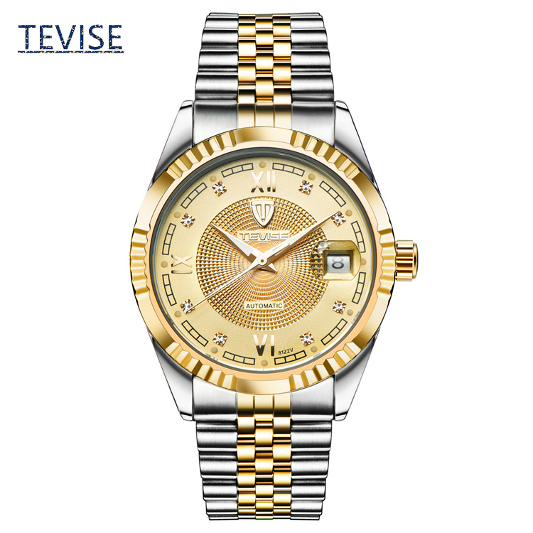 ФОТО Men's Automatic Self-Wind Brand Watch Top Quanlity Mens Original Business Watches Fashion Steel Strap Gift Watch A026