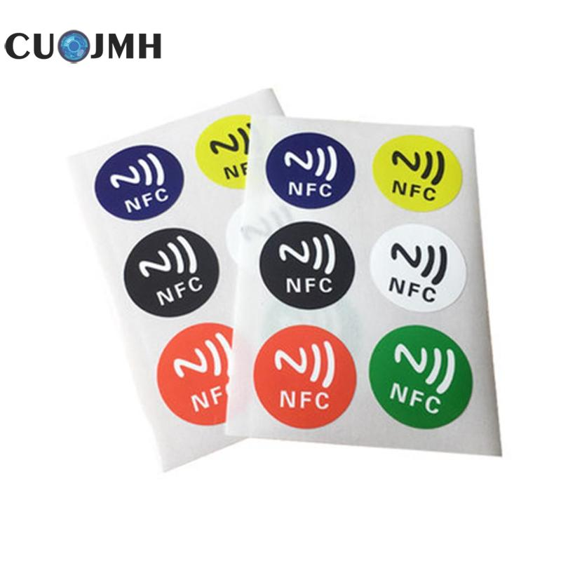 6 Pcs/set Nfc Tags Stickers Ntag213 13.56 Mhz Nfc Sticker Rfid Adhesive Label Sticker Universal Lable Ntag Compatible Nfc Phone