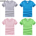 4-12 Лет 100% Хлопок большой мальчиков майки Топы Детей футболка Девочка футболки сплошной цвет teanage рубашки сплошной цвет 1015