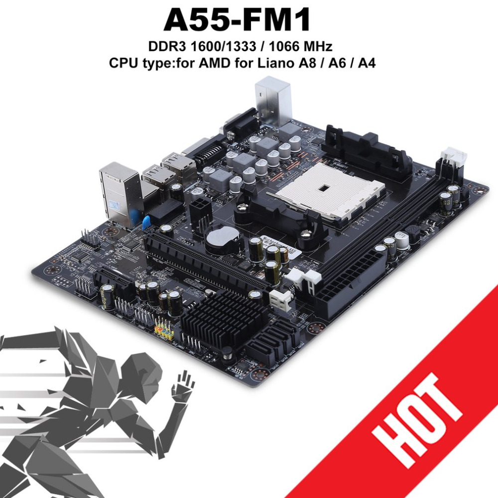 A55 Motherboard with FM1 Socket SATA 2.0 USB 2*DDR3 Motherboard Support 16GB Desktop Computer Mainboard with AMD & IntelA55 Motherboard with FM1 Socket SATA 2.0 USB 2*DDR3 Motherboard Support 16GB Desktop Computer Mainboard with AMD & Intel