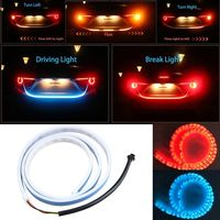 Dual Color Flow Type Flowing LED Strip Light Car Trunk DRL Side Turn Signal Rear Light