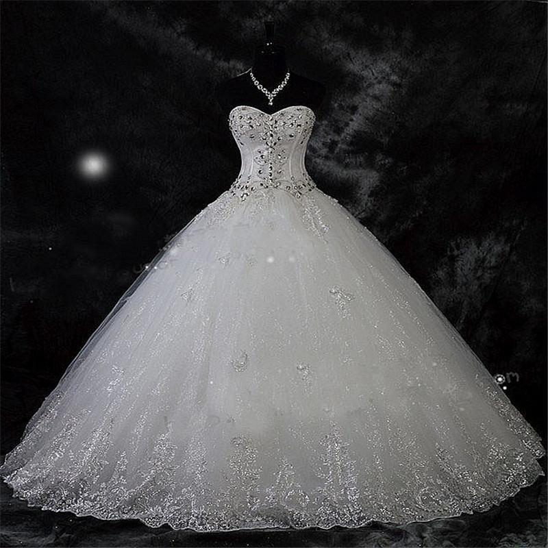 Robe De Mariage New Arrival Lace Rhinestone Vintage Plus Size Wedding Dress 2019