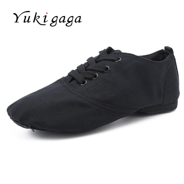 Yukigaga 2019 New Arrival Red Soft Sole Canvas Jazz Shoes Dance Shoes For Children Women Adult o8c hot
