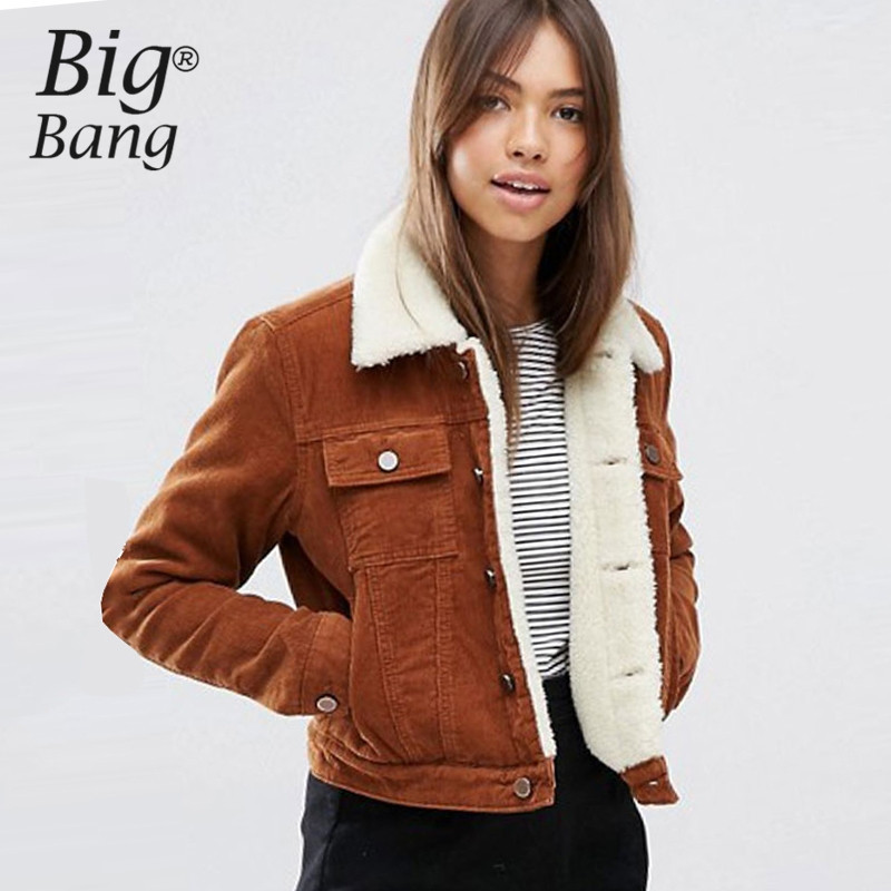 Corduroy coat women