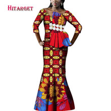 african print dresses for beautiful lady danshiki splice women plus size  nine points sleeve WY3837